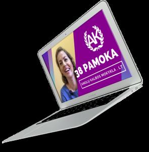 anglu kalbos kursai - vilnius kaunas klaipeda siauliai panevezys internetu nuotoliniu budu laptop