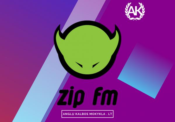 Anglų Kalbos Mokykla . LT – ZIP FM eteryje