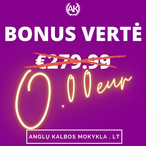 anglu kalbos mokykla BONUS VERTĖ €279.99